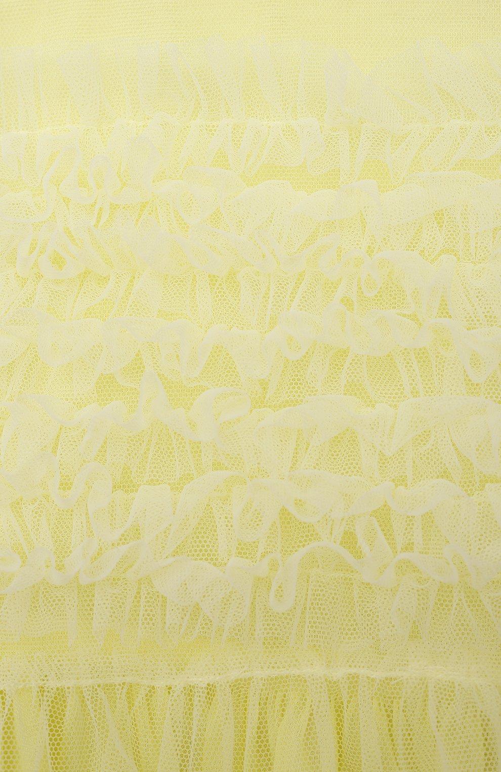 Детское хлопковое платье IL GUFO желтого цвета, арт. P21VM611H0018/5A-8A   Фото 3