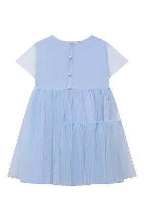 Детское хлопковое платье IL GUFO голубого цвета, арт. P21VM611H0018/2A-4A | Фото 2