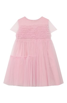 Детское хлопковое платье IL GUFO розового цвета, арт. P21VM611H0018/2A-4A | Фото 1
