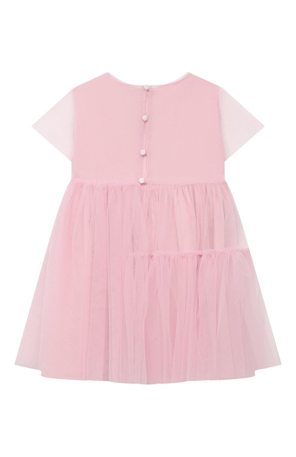 Детское хлопковое платье IL GUFO розового цвета, арт. P21VM611H0018/2A-4A | Фото 2