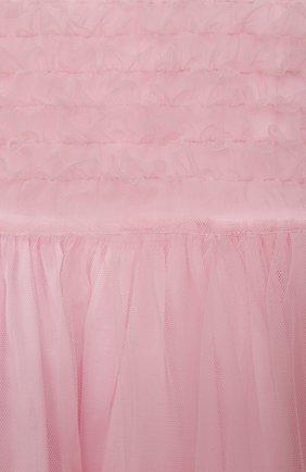 Детское хлопковое платье IL GUFO розового цвета, арт. P21VM611H0018/2A-4A | Фото 3