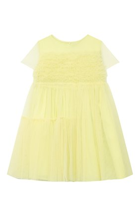 Детское хлопковое платье IL GUFO желтого цвета, арт. P21VM611H0018/2A-4A | Фото 1