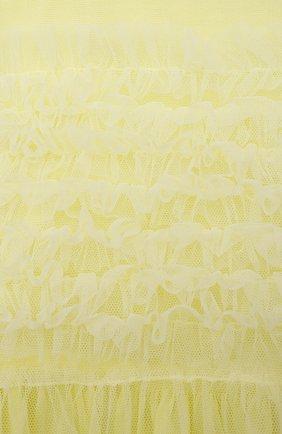 Детское хлопковое платье IL GUFO желтого цвета, арт. P21VM611H0018/2A-4A | Фото 3