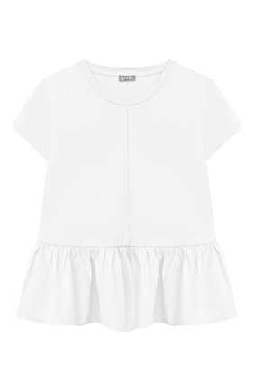 Детский хлопковый топ IL GUFO белого цвета, арт. P21TS166M0014/5A-8A | Фото 1