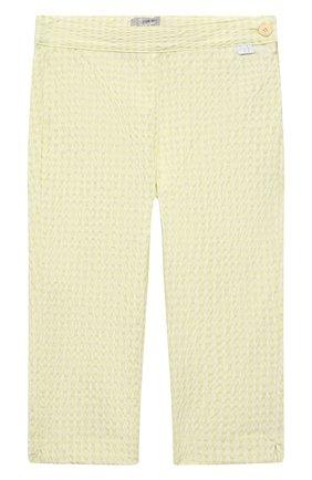Детские хлопковые брюки IL GUFO желтого цвета, арт. P21PR004C3125/2A-4A | Фото 1