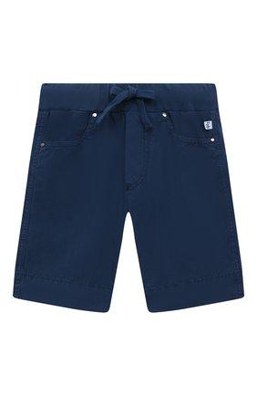 Детские хлопковые шорты IL GUFO синего цвета, арт. P21PB074C6035/2A-4A   Фото 1