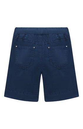 Детские хлопковые шорты IL GUFO синего цвета, арт. P21PB074C6035/2A-4A   Фото 2
