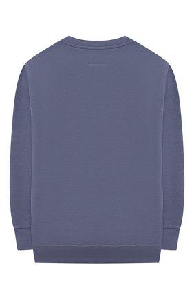 Детский хлопковый свитшот IL GUFO голубого цвета, арт. P21MF198M0030/5A-8A | Фото 2 (Рукава: Длинные; Материал внешний: Хлопок; Мальчики Кросс-КТ: Толстовка-одежда; Ростовка одежда: 4 года | 104 см, 5 лет | 110 см, 7 лет | 122 см)