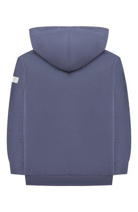 Детский хлопковая толстовка IL GUFO голубого цвета, арт. P21GA351M0030/5A-8A | Фото 2 (Рукава: Длинные; Материал внешний: Хлопок; Мальчики Кросс-КТ: Толстовка-одежда; Ростовка одежда: 4 года | 104 см, 5 лет | 110 см, 7 лет | 122 см)