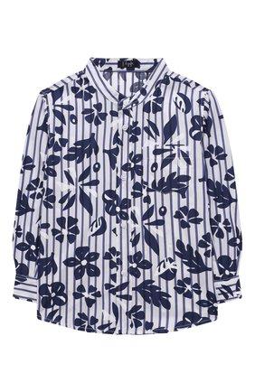Детская хлопковая рубашка IL GUFO темно-синего цвета, арт. P21CL113C4070/5A-8A | Фото 1 (Рукава: Длинные; Материал внешний: Хлопок; Случай: Повседневный; Ростовка одежда: 4 года | 104 см, 5 лет | 110 см, 7 лет | 122 см)