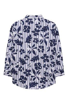 Детская хлопковая рубашка IL GUFO темно-синего цвета, арт. P21CL113C4070/5A-8A | Фото 2 (Рукава: Длинные; Материал внешний: Хлопок; Случай: Повседневный; Ростовка одежда: 4 года | 104 см, 5 лет | 110 см, 7 лет | 122 см)