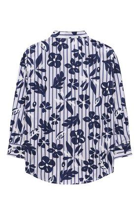 Детская хлопковая рубашка IL GUFO темно-синего цвета, арт. P21CL113C4070/2A-4A | Фото 2 (Материал внешний: Хлопок; Рукава: Длинные; Случай: Повседневный; Ростовка одежда: 18 мес | 86 см, 2 года | 92 см, 3 года | 98 см)