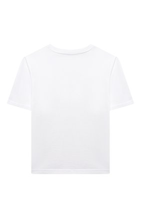 Детская хлопковая футболка DOLCE & GABBANA белого цвета, арт. L5JTAZ/G7YPF/2-6 | Фото 2