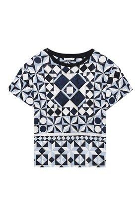 Детская хлопковая футболка DOLCE & GABBANA синего цвета, арт. L4JTBL/G7YBL/2-6 | Фото 1