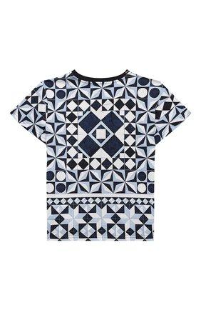 Детская хлопковая футболка DOLCE & GABBANA синего цвета, арт. L4JTBL/G7YBL/2-6 | Фото 2