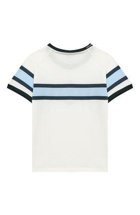 Детская хлопковая футболка DOLCE & GABBANA белого цвета, арт. L4JT8X/G7WRV/2-6 | Фото 2