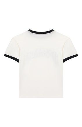 Детская хлопковая футболка DOLCE & GABBANA белого цвета, арт. L4JT8A/G7WRU/8-14   Фото 2