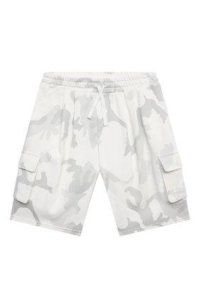 Детские хлопковые шорты DOLCE & GABBANA светло-серого цвета, арт. L4JQI3/G7YIT/8-14 | Фото 1