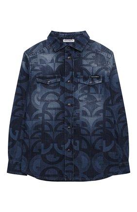 Детская джинсовая рубашка DOLCE & GABBANA голубого цвета, арт. L43S17/LD918/8-14 | Фото 1