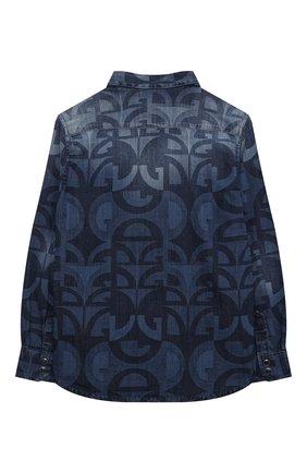 Детская джинсовая рубашка DOLCE & GABBANA голубого цвета, арт. L43S17/LD918/2-6 | Фото 2 (Материал внешний: Хлопок; Рукава: Длинные; Случай: Повседневный; Ростовка одежда: 2 года | 92 см, 3 года | 98 см, 4 года | 104 см, 5 лет | 110 см, 6 лет | 116 см)