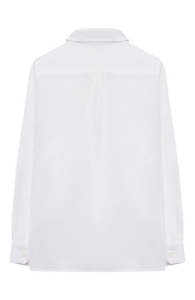 Детская льняная рубашка DOLCE & GABBANA белого цвета, арт. L42S70/G7YEA/8-14 | Фото 2