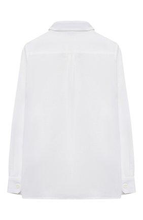 Детская льняная рубашка DOLCE & GABBANA белого цвета, арт. L42S70/G7YEA/2-6 | Фото 2