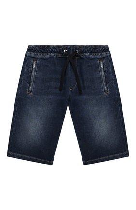 Детские джинсовые шорты DOLCE & GABBANA темно-синего цвета, арт. L42Q47/LD952/2-6 | Фото 1