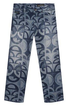 Детские джинсы DOLCE & GABBANA голубого цвета, арт. L42F05/LD917/8-14 | Фото 1