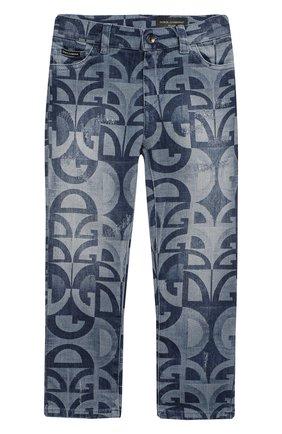 Детские джинсы DOLCE & GABBANA голубого цвета, арт. L42F05/LD917/2-6 | Фото 1