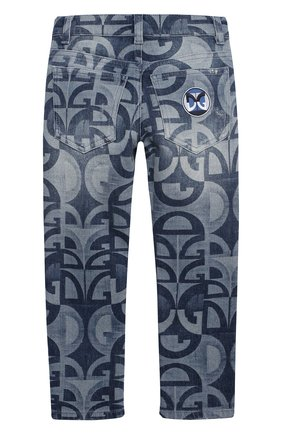 Детские джинсы DOLCE & GABBANA голубого цвета, арт. L42F05/LD917/2-6 | Фото 2