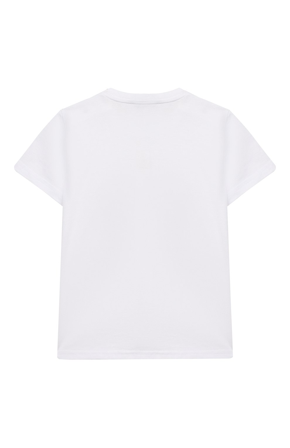 Детский хлопковая футболка DOLCE & GABBANA белого цвета, арт. L2JTGM/G7YPF   Фото 2