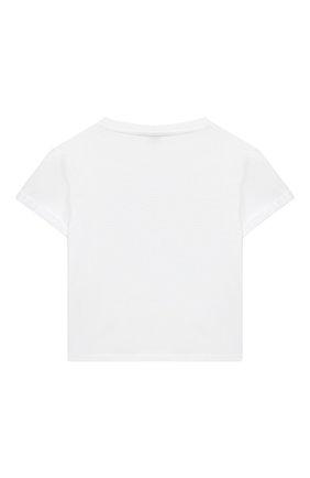 Детский хлопковая футболка DOLCE & GABBANA белого цвета, арт. L2JTGJ/G7YQL | Фото 2