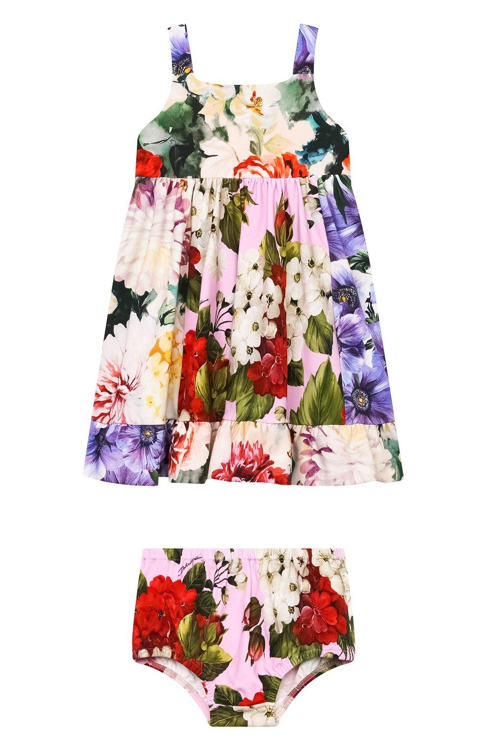 Женский комплект из платья и шорт DOLCE & GABBANA разноцветного цвета, арт. L2JD2P/G7YRD   Фото 1