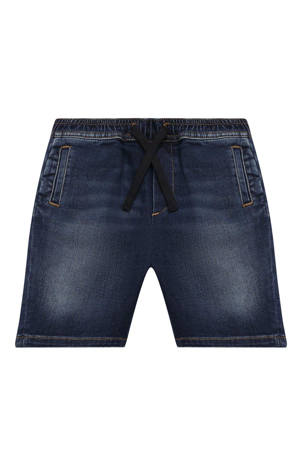 Детские джинсовые шорты DOLCE & GABBANA темно-синего цвета, арт. L12Q71/LD952 | Фото 1