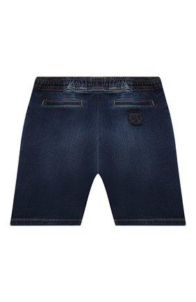 Детские джинсовые шорты DOLCE & GABBANA темно-синего цвета, арт. L12Q71/LD952 | Фото 2