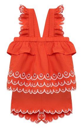 Детский комплект из топа и шорт STELLA MCCARTNEY кораллового цвета, арт. 602544/SQK79/9M | Фото 1