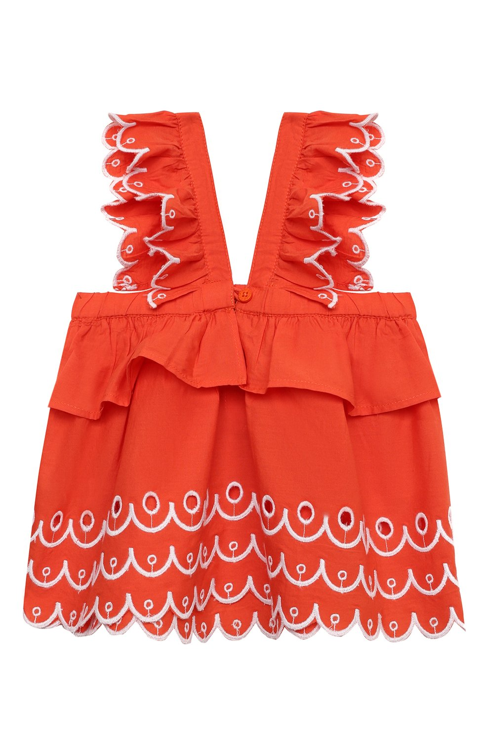 Детский комплект из топа и шорт STELLA MCCARTNEY кораллового цвета, арт. 602544/SQK79/9M | Фото 3