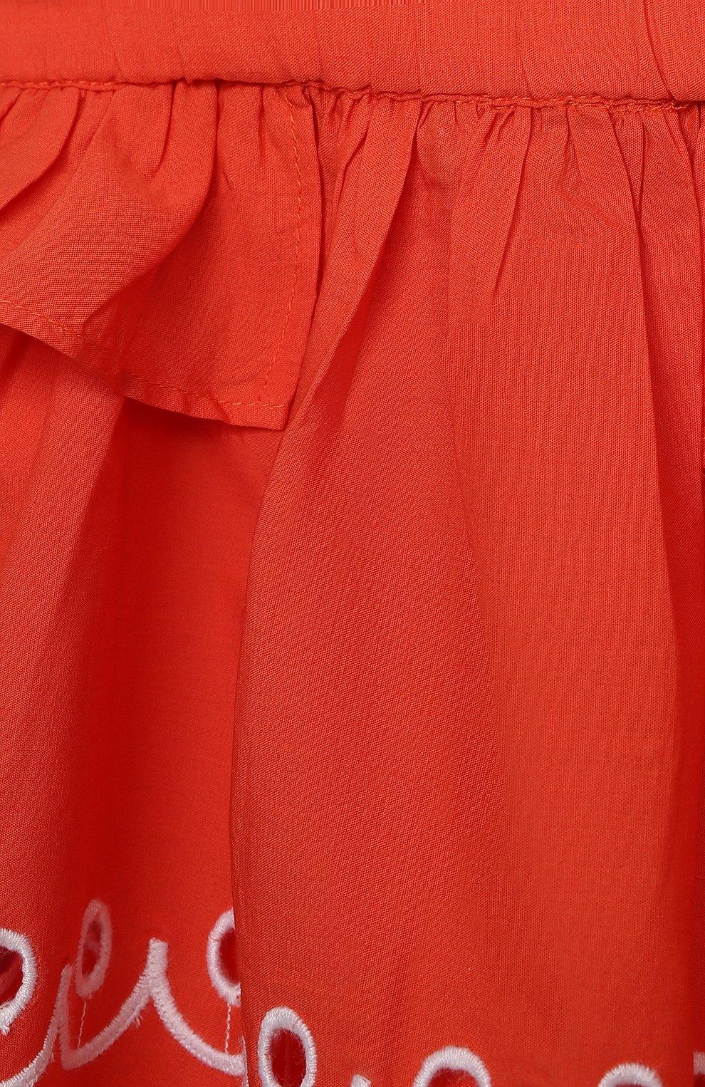 Детский комплект из топа и шорт STELLA MCCARTNEY кораллового цвета, арт. 602544/SQK79/9M | Фото 6