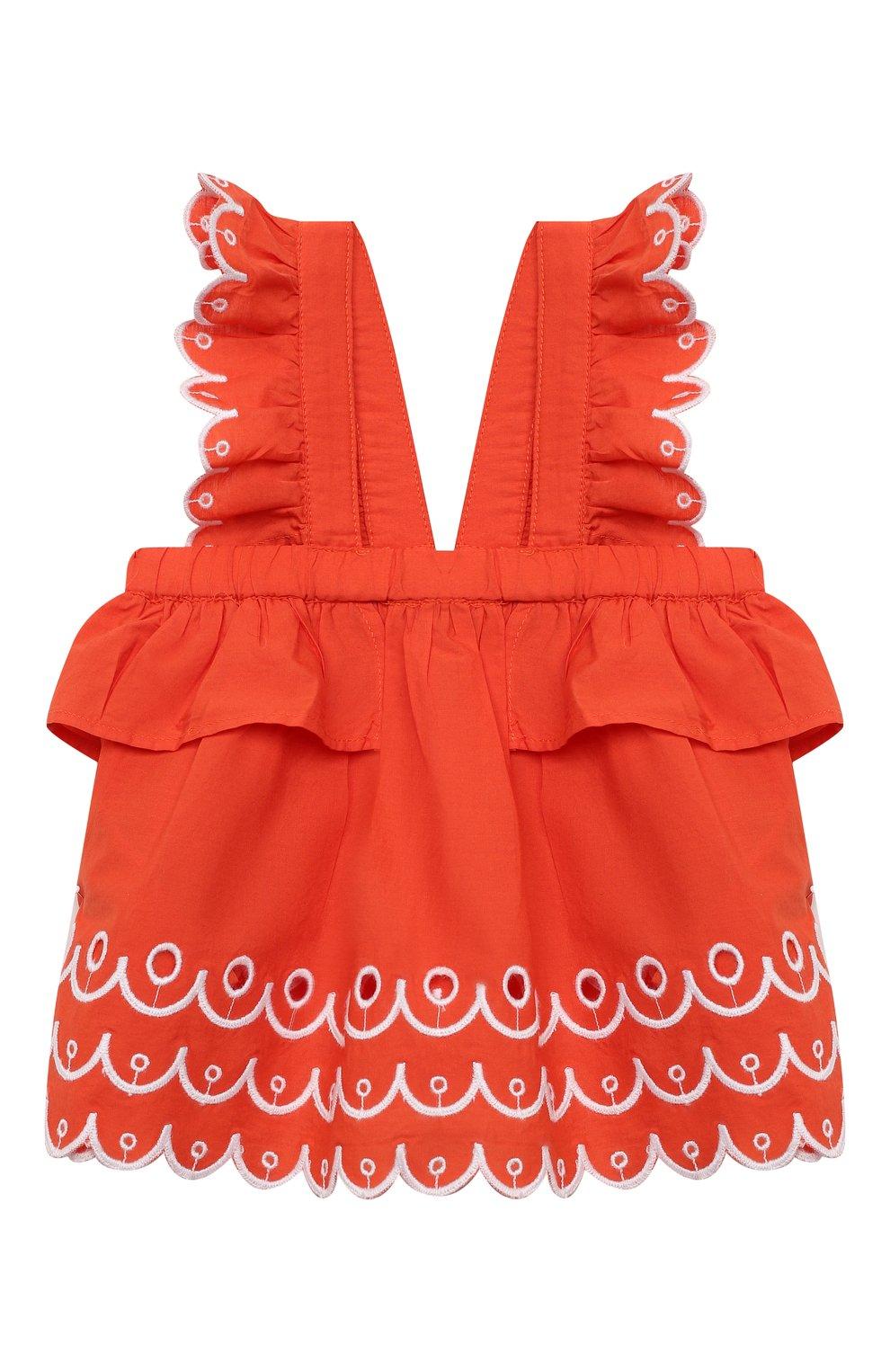 Детский комплект из топа и шорт STELLA MCCARTNEY кораллового цвета, арт. 602544/SQK79 | Фото 2
