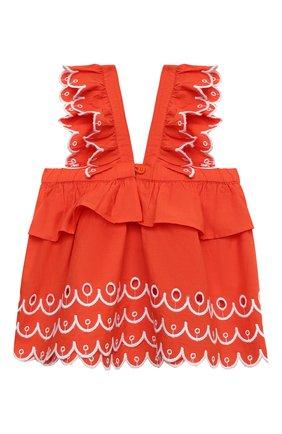 Детский комплект из топа и шорт STELLA MCCARTNEY кораллового цвета, арт. 602544/SQK79 | Фото 3