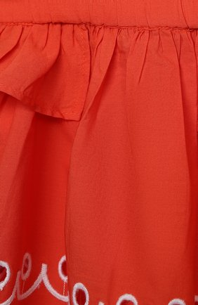 Детский комплект из топа и шорт STELLA MCCARTNEY кораллового цвета, арт. 602544/SQK79   Фото 6