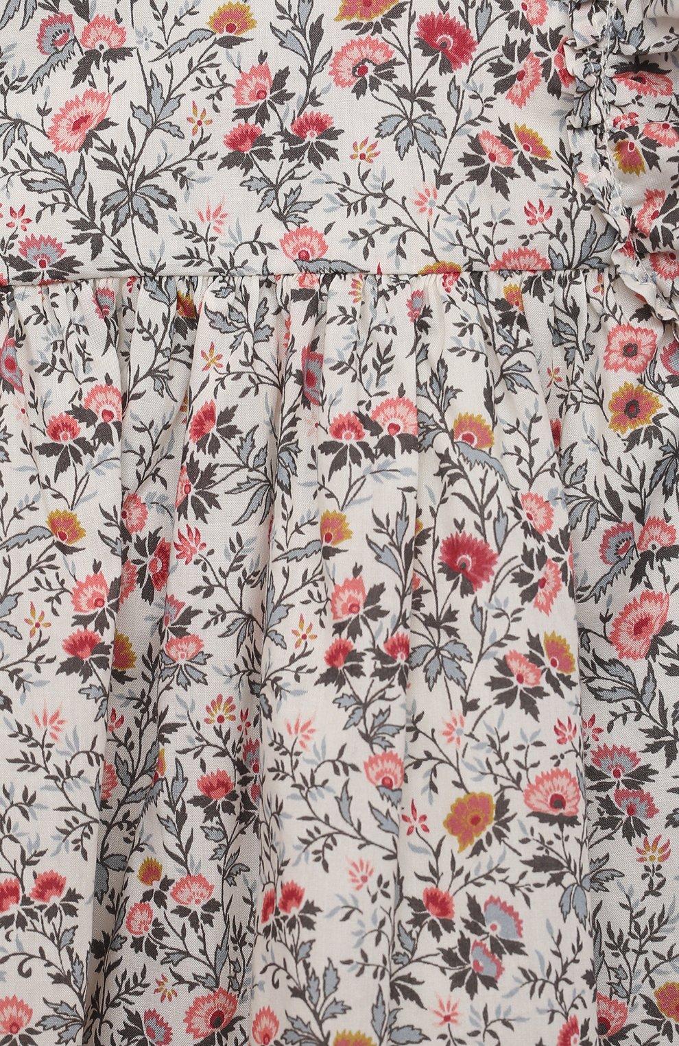 Женский хлопковое платье TARTINE ET CHOCOLAT разноцветного цвета, арт. TS30011/1M-1A | Фото 3