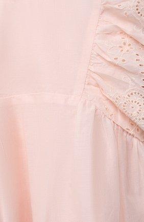 Женский хлопковое платье TARTINE ET CHOCOLAT розового цвета, арт. TS30031/18M-3A | Фото 3