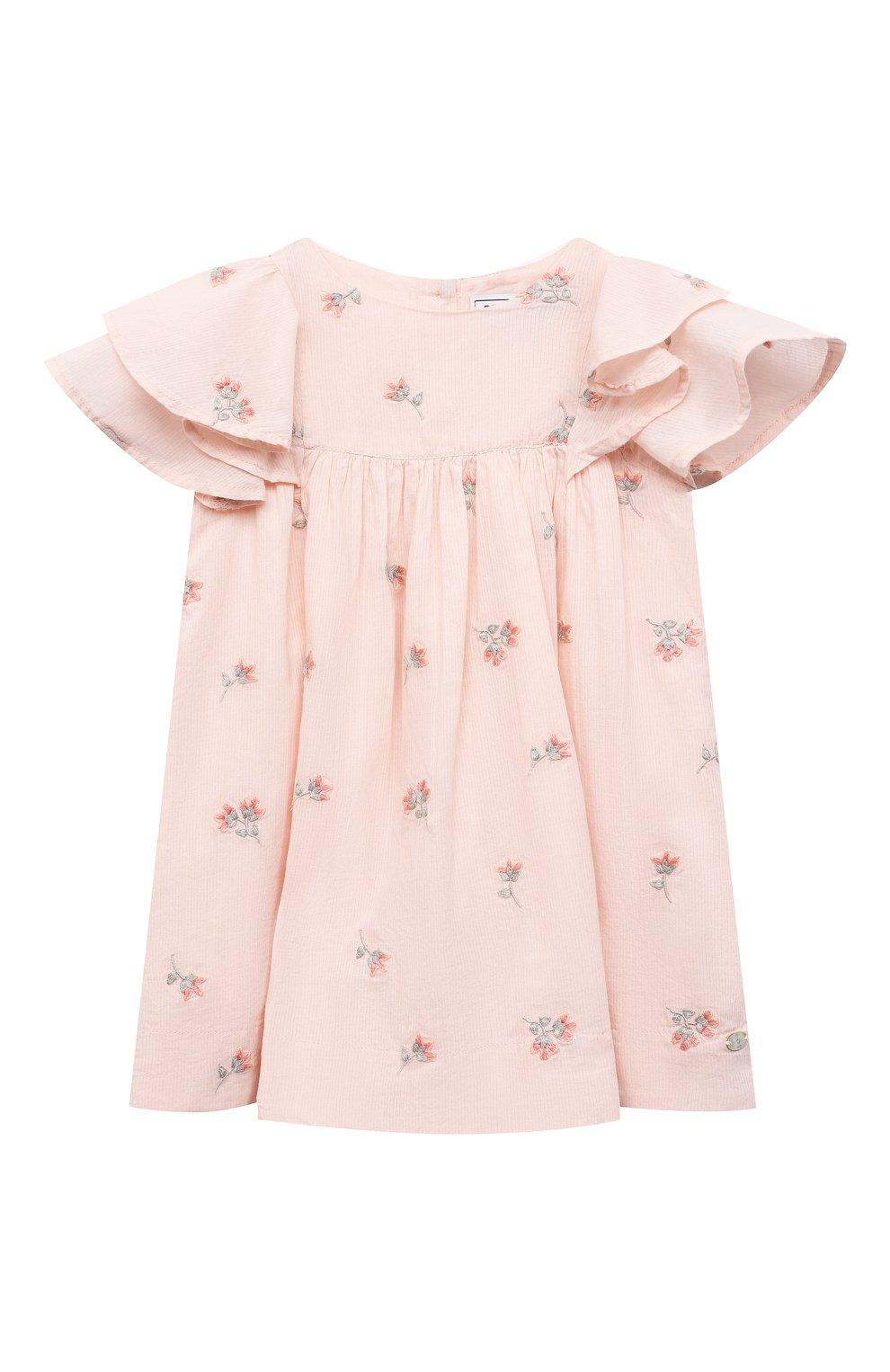 Женский хлопковое платье TARTINE ET CHOCOLAT розового цвета, арт. TS30041/1M-1A | Фото 1