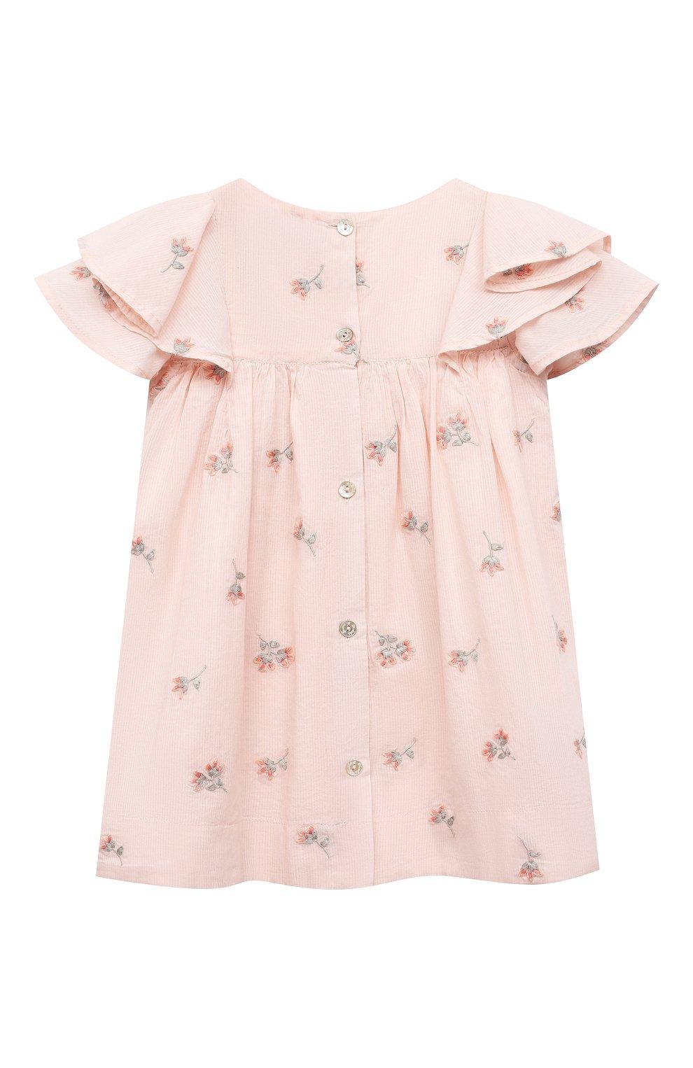 Женский хлопковое платье TARTINE ET CHOCOLAT розового цвета, арт. TS30041/1M-1A | Фото 2