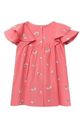 Женский хлопковое платье TARTINE ET CHOCOLAT кораллового цвета, арт. TS30041/18M-3A | Фото 2