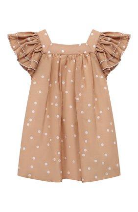 Женский платье из хлопка и шелка TARTINE ET CHOCOLAT бежевого цвета, арт. TS30061/1M-1A | Фото 1