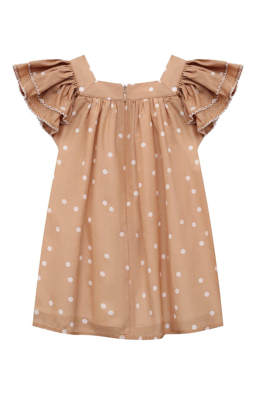 Женский платье из хлопка и шелка TARTINE ET CHOCOLAT бежевого цвета, арт. TS30061/1M-1A | Фото 2