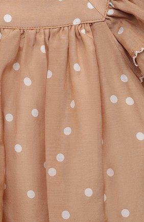 Женский платье из хлопка и шелка TARTINE ET CHOCOLAT бежевого цвета, арт. TS30061/1M-1A | Фото 3