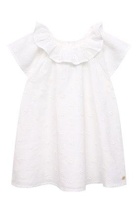 Женский хлопковое платье TARTINE ET CHOCOLAT белого цвета, арт. TS30121/18M-3A | Фото 1